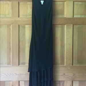 Chico's long black dress